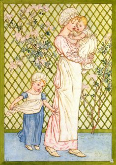 Art by Kate Greenaway (c 1878) from the book, UNDER THE WINDOW.