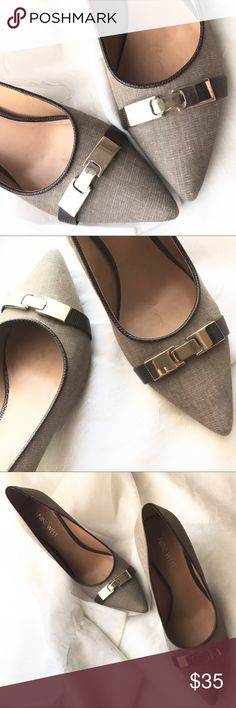 ca85ddf02f0282 Nine West pointy toe low heel pumps Like new