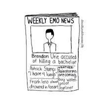 i would love to read Weekly Emo News, also, Tyler Joseph should be new emo-weather dude