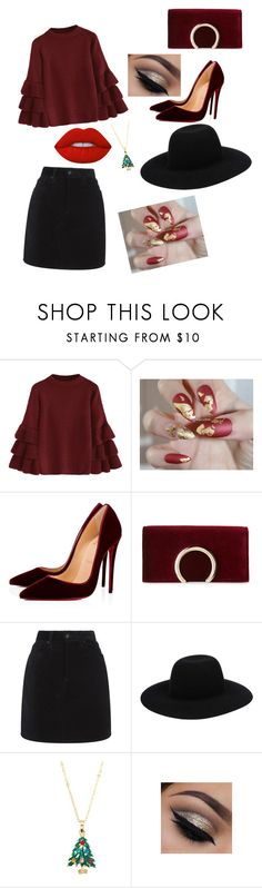 """Christmas is coming"" by patrunorossella ❤ liked on Polyvore featuring Christian Louboutin, Jessica McClintock, rag & bone, Ten79LA and Lime Crime"