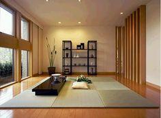Japanese minimalist interior - large reception room