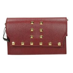 Pochette Borchiata bordeaux