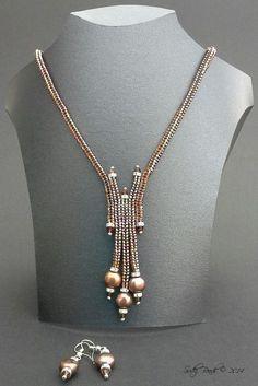 Image result for Herringbone seed beads earrings tutorial