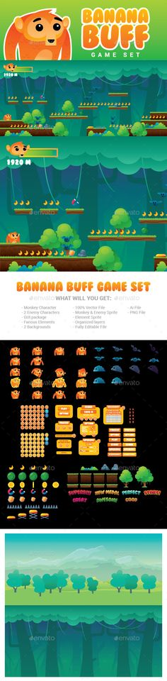 Monkey Banana Buff Game Set