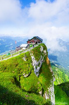 Mountain hut on the top of the Schafberg m), Austria. Photograph Schafberg by Tomáš Vocelka on Wonderful Places, Great Places, Beautiful Places, Vacation Places, Places To Travel, The Places Youll Go, Places To See, Europe Centrale, Austria Travel