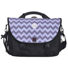 Monogram:Purple Chevron Pattern:Laptop Bag from Zazzle.com ✿. ✿