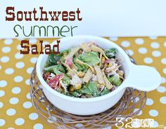 Southwest Summer Salad {Hello Summer} I Heart Nap Time | I Heart Nap Time - Easy recipes, DIY crafts, Homemaking