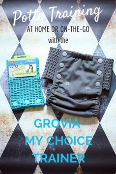 Potty training at home or on the go with the Grovia My Choice trainer #clothdiapers