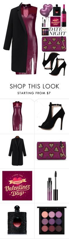 """""""Hot Date Night Style"""" by beebeely-look ❤ liked on Polyvore featuring Christian Louboutin, Charlotte Russe, Yves Saint Laurent, MAC Cosmetics, Jennifer Meyer Jewelry, DateNight, chic, NightOut, twinkledeals and Dressunder50"""