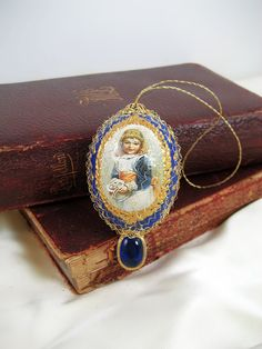 Victorian Easter Egg Ornament by SilverOwlStudio on Etsy, $22.00