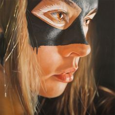 """British hyper-realist artist JKB Fletcher, paint gorgeous superheroes themed woman in a very sensual way. """"My Paintings address questions of whether photorealism is anything more than a photograph with oil based paint. Using 'reality' and sensuality to provoke thoughts and sensations of physicality and beauty."""""""