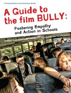 I think Bullying is one of the biggest problems we face as a society and yet too many people pretend it isn't a problem. Get involved!