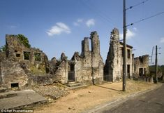 Oradour-sur-Glane, France. January 2014: Prosecutors have charged an 88-year-old man from Cologne over 1944 Nazi massacre at Oradour-Sur-Glane. where 642 men, women and children were killed in an infamous massacre.  Hitler's SS Panzer Division committed the atrocity on June 10, 1944 to avenge death of German officer at hands of French Resistance. Last year, German authorities said they believe there may still be six men still at large who committed the atrocity.