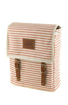 Stripes canvas backpack