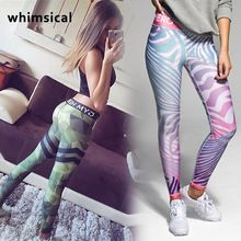 whimsical Fitness leggings Women Workout gym hero Print Yoga Pants stripe sports Leggings Fitness Stretch women sport leggings