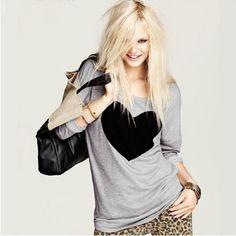 en style Simple Femmes t-shirt Casual Lâ Manches Longues Col Rond T-Shirt Tops camisetas y tops Short T Shirt, Crop Shirt, New Fashion, Womens Fashion, American Fashion, Fashion Tag, Fashion Suits, Fashion 2016, Style Fashion