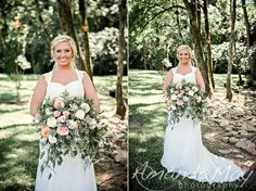 Bridal Portraits on wedding day by Amanda May Photos at Smithview Pavilion
