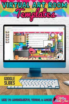 Classroom Art Projects, Art Classroom, Classroom Themes, Classroom Activities, Virtual Class, Virtual Art, Teacher Office, Kindergarten Art Lessons, Learning Websites