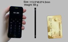 Anica A9+ Ultra Thin Dual SIM Bluetooth MP3 680mAh Remote Control Mini Card Phone