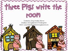 FREE three pigs write the room activity!
