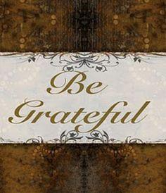 Be grateful printable