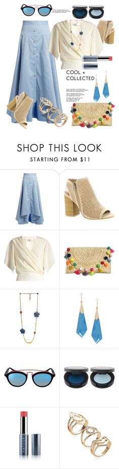 """Cool + Collected"" by helenaymangual ❤ liked on Polyvore featuring Peter Pilotto, MIA, Lanvin, Alexis Bittar, Ray-Ban and Vapour Organic Beauty"
