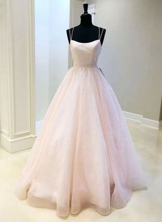 Pink tulle sequins long prom dress pink evening dress, Customized service and Rush order are available Senior Prom Dresses, Pretty Prom Dresses, Pink Prom Dresses, Event Dresses, Ball Dresses, Formal Dresses, Sexy Dresses, Summer Dresses, Wedding Dresses