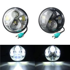 5.75inch Black/Chrome Motorcycle HI/LO LED Front Headlight For Harley-Davidson