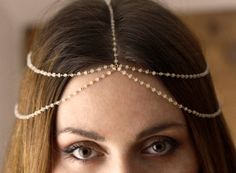 Moonstone Headpiece Bridal Chain Headpiece Bohemian