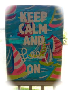 Lilly Pulitzer Inspired Sailboat Quote by AlexBrookesBoutique, $70.00
