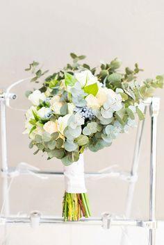Eucalyptus, rose & brunia bouquet | SouthBound Bride | http://www.southboundbride.com/romantic-rose-farm-wedding-by-jack-and-jane-photography | Credit: Jack and Jane Photography