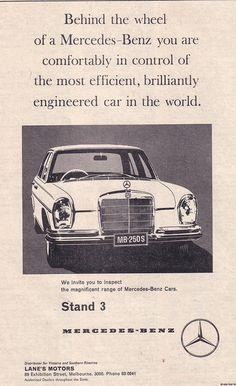 1968 Mercedes Benz 250 Ad - Australia by Five Starr Photos ( Aussiefordadverts), via Flickr