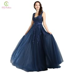Cheap custom party dress, Buy Quality custom made wedding dresses directly from China custom made evening dress Suppliers: SSYFashion Lace Appliques V-neck Long Evening Dress The Bride Sexy Sleeveless Lace-up Back Beading Party Formal Dresses Custom