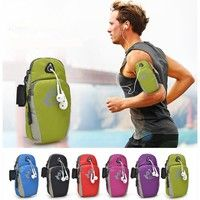 New Fashion Unisex Cell Phone Bag Multifunctional Mini Casual Outdoor Sport Bike Jogging Fitness Mobile Phone Arm Bag Trendy Zipper Waterproof Bags Green Black Blue Pink Red Purple Size:18cm*5cm*9cm