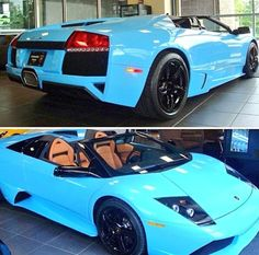 Who else loves this baby blue Lamborghini Murcielago?