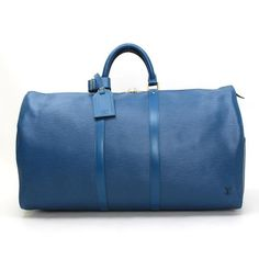 Louis Vuitton  Keepall 55 Epi Luggage Blue Leather M42955