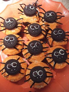 Halloween Cupcakes with Oreos, m's and licorice-- I would add a bunch of buttercream