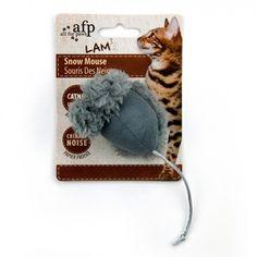 Brinquedo para Gatos Ratinho Cinza Snow Mouse Lambswool Afp - Meuamigopet.com.br #cat #cats #gato #gatinho #bigode #muamigopet
