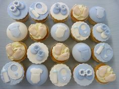 Products Archive - Cakes By Carol Christening Cupcakes Boy, Baby Shower Cupcakes For Boy, Cupcakes For Boys, Boy Christening, Baby Shower Cakes, Mini Cupcakes, Baby Shower Themes, Baby Boy Shower, Cupcake Cakes