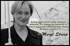 #Meryl Streep : Michelle Danner's favorite actress, an example all of you #actors should follow !