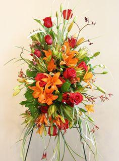 Funeral Flower Arrangements, Memorial Flowers, Sympathy Gifts, Fuji, Floral Design, Plants, Roses, Floral Patterns, Plant