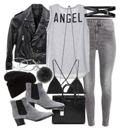 """""""Untitled #19207"""" by florencia95 ❤ liked on Polyvore featuring H&M, Linea Pelle, Banana Republic, Kiki de Montparnasse, Acne Studios, Yves Saint Laurent, Michael Kors, Tod's and Cartier"""