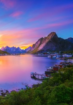 Sunset in Reine, Norway ~ by Marco