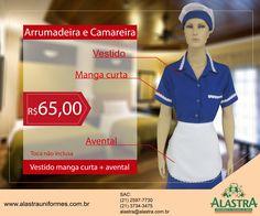 Promoção de uniformes para arrumadeira e camareira, imperdível!