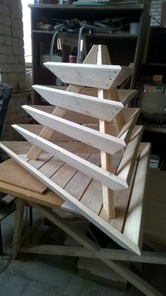 I have made it. Garden Pyramid Plater. Larch. Oil for terraces Biofa.