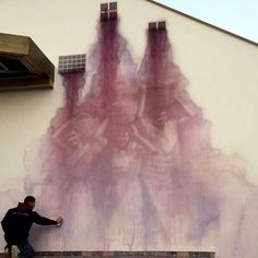 """Soul of the wall"" (L'anima del muro) Opera dello street artist italiano Eron a…"