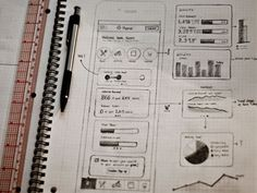 Digital wireframe sketches 20 examples of web and mobile Wireframe Web, Wireframe Design, App Ui Design, Mobile App Design, User Interface Design, Game Design, Sketch Web Design, News Web Design, Layout Design