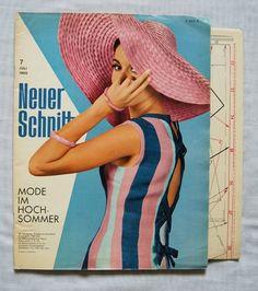 Zeitschriften - 60er Jahre Schnittmuster - Neuer Schnitt 11/ 1967 - ein Designerstück von zuzsa bei DaWanda