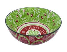 Purchase Irish Celtic Bowl With Cead Mile Failte Design at Discounted Prices ✓ FREE DELIVERY possible on eligible purchases. Irish Celtic, Decorative Bowls, Design, Design Comics