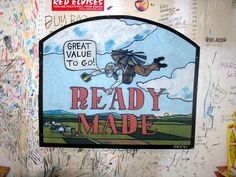 Ready Made-natalie cetti To Go, Illustration Art, Signs, Stuff To Buy, Shop Signs, Sign, Dishes